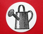 Antique Metal Watering Can Rubber Stamp // Gardening rubber stamp - Handmade by BlossomStamps