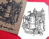 Castle Rubber Stamp - Handmade rubber stamp