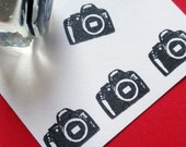 Camera Rubber Stamp  - Handmade by BlossomStamps
