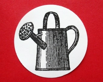Antique Watering Can - Photopolymer Rubber Stamp  - Handmade by BlossomStamps