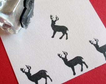 Buck Deer Rubber Stamp - Handmade rubber stamps by BlossomStamps