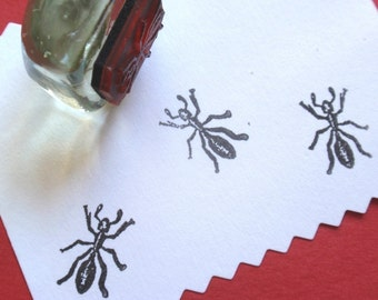 Tiny Ant Rubber Stamp - Handmade by BlossomStamps