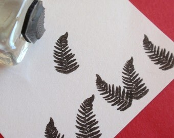 Tiny Fern Frond Rubber Stamp -Handmade by BlossomStamps