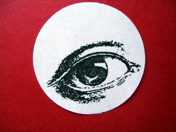 Eye Rubber Stamp  - Male - Photopolymer - Handmade by Blossom Stamps