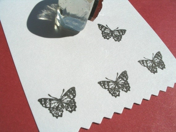 Butterfly Rubber Stamp - Handmade by BlossomStamps