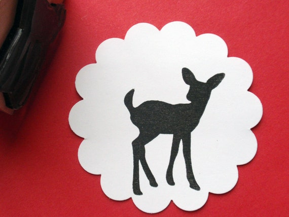 Fawn Deer Rubber Stamp // Sale
