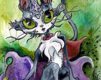 Final Fantasy XI - Print of Painting of a Cait Sith - Cait Sith Cloud