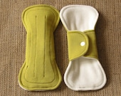 7inch PantyLiners (Bamboo) Yellow Green -Set of 2- minor sewing flaw (discount)
