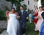 1950s Strapless Wedding Gown