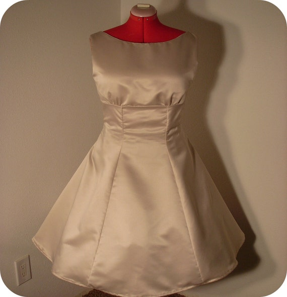 Sample Sale 1950's Champagne Dress