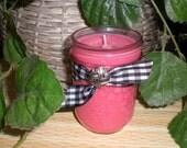 Spiced Apple Crisp Dessert 8 ounce Soy Wax Jar Candles