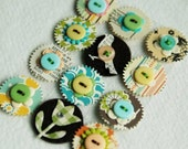 vintage summer felt and paper mix embellies