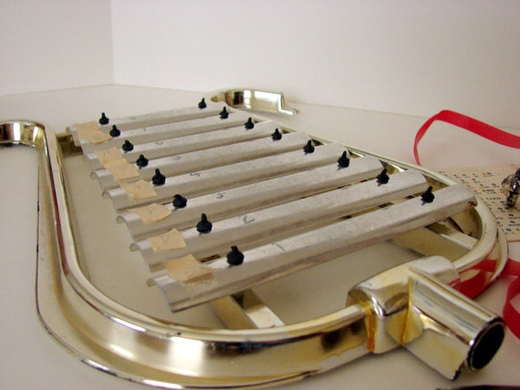 Vintage Golden Glockenspiel (no, silly - not a xylophone, a glock-en-speel)