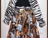 Special Listing for RayRay8898 Safari Style Dress with Emerald City Fabric Shown