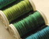 On sale weekend only Copper wire  28 Gauge  - ocean colors - 4 spools