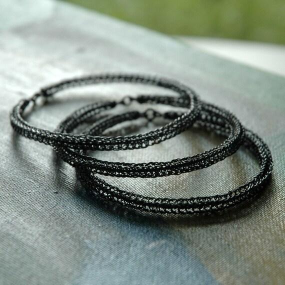 Oxidized Sterling bangle Bracelet one gray silver bangle bracelet urban jewelry conetmporary fashion boho jewellery