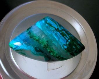Gem Silica Chrysocolla Cabochon Inspiration Mine Gila County Arizona