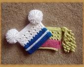 Newborn Hat, Infant Photo Prop crochet PATTERN, two patterns in one