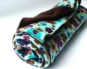 S A L E marigolds - organic cotton fleece quilted blanket