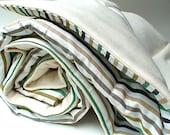 S A L E nautical stripes - organic cotton and designer print quilted blanket - TODDLER/CHILD size