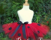 Little Lola LadyBug Tutu - Infant to Toddler Size - Great for Costumes Birthday Party Portraits and Dress Up
