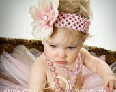 Headband - Cream Soda - Infant to Toddler Size - Portrait Birthday Gift Party Dress Up Spring Easter