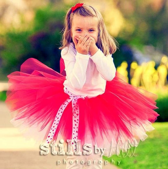Ready to Ship, Red tutu dress up skirt for toddler girls sizes 2t, 3t, or 4t for Valentines Day, Birthday, and photo props -SHIMMY SHIMMY