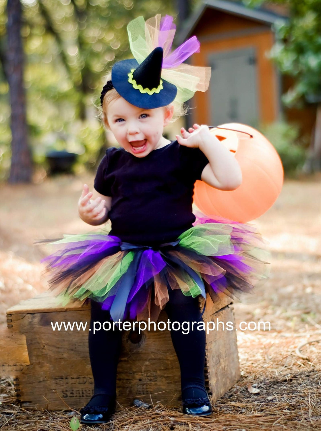Witch Costume Tutu For Baby Girls Halloween Set With Mini
