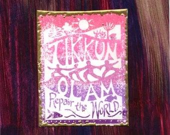 Tikkun Olam - Repair the World card