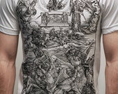 Albrecht Durer - Battle of Angels - American Apparel Mens t shirt ( Albrecht Durer t shirt )