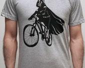 Darth Vader is Riding It - Mens shirt / Unisex shirt printed with ECO ink ( Star Wars / Darth Vader bike shirt )