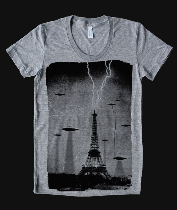 The Invaders - American Apparel Womens t shirt  ( UFO t shirt )