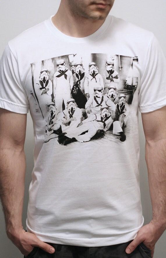 Vader's first Crew - Mens t shirt  / Unisex t shirt ( Star Wars / Storm Trooper shirt)