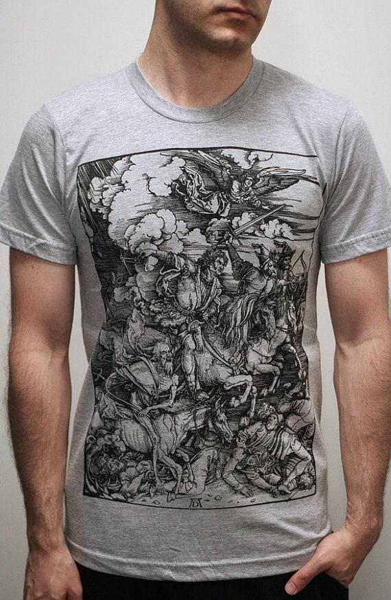 Albrecht Durer - Four Horsemen of the Apocalypse - Mens tshirt / Unisex T shirt ( Albrecht Durer Mens t shirt )