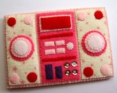 Stereo Hi-Fi iPhone Case Pink Pink Stars Version