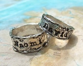Custom Wedding Rings, Personalized Wedding Bands, Anniversary Rings, Silver Wedding Rings, Wedding Rings Size 4 5 6 7 8 9 10 11 12 13 14 15