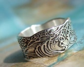 Recycled Silver Ring, Eco Friendly Jewelry, Reclaimed Silver Band, Recycled Silver Custom Size Unisex Ring 4 5 6 7 8 9 10 11 12 13 14 15