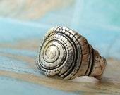 Silver Shell Ring, Nautical Jewelry, Seashell Ring, Shell Jewelry, Beach Jewely, Beach Shell Ring Size 4 5 6 7 8 9 10 11 12 13 14