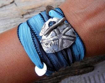 Silver Wrap Bracelet, Sterling Silver Wrap Bracelet, Sterling Silver Artisan Bracelet, Artisan Jewelry, Artisan Handmade Jewlery, Art Wrap