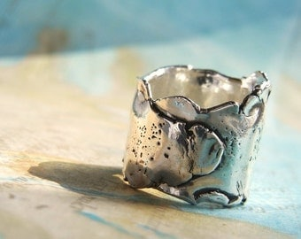 Chunky Ring, Wrap Ring, Sterling SIlver Chunky Ring, WIDE RING, Sterling SIlver Handmade WIDE Ring, Chunky Rings, Thick Rings, Wide Rings