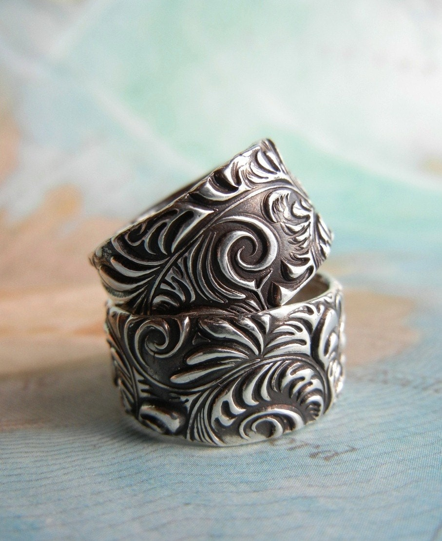 Custom Wedding Rings Handmade Silver Wedding Rings Pure