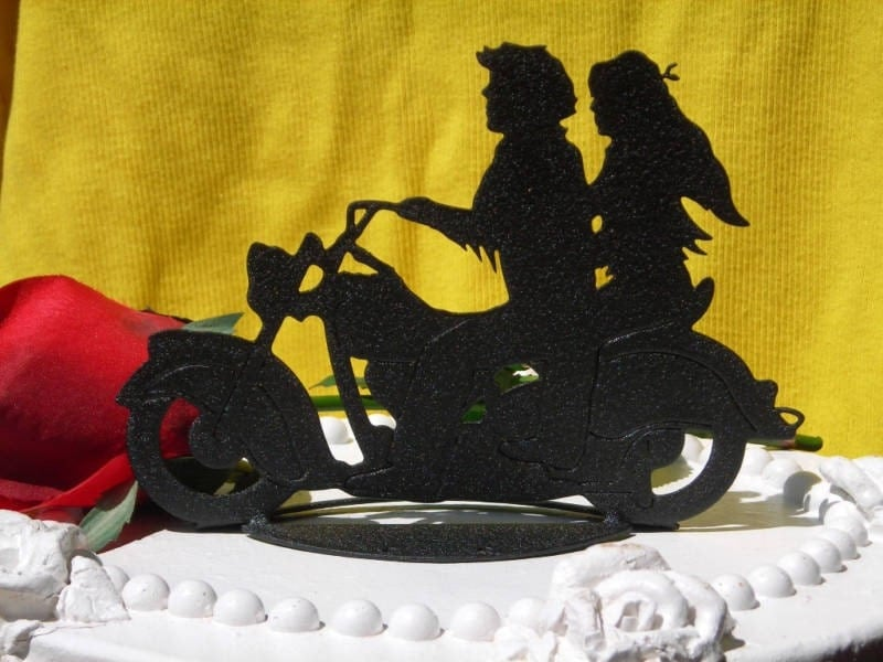 harley davidson wedding cake toppers canada motorcycle biker wedding cake topper motorcyclist by 15078
