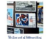 Letterwriting is a Fine Art ... Handwritten Letter with Art Postcard