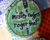 Mister Rogers Roger That  ...  Handwritten Letter and Pinback Button