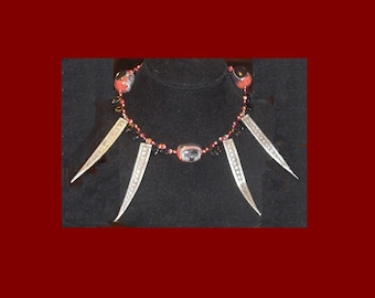 Woven Spear Necklace