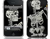 iphone skin  Day of the  Skeleton               Eskeleto Fumador