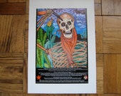 Art Print Skeleton Zapatista 13x19