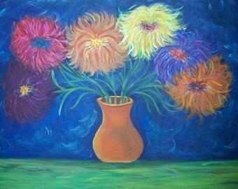 "Print of Original Painting, ""Sea Flowers"""