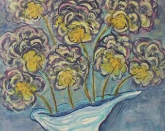 Modern Impressionist  Print of Wild Hydrangeas