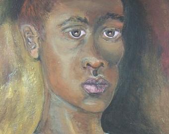 Beautiful Young African Man Print